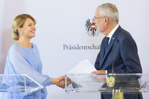 Prezidentka Zuzana Čaputová a rakúsky prezident Alexander Van der Bellen.
