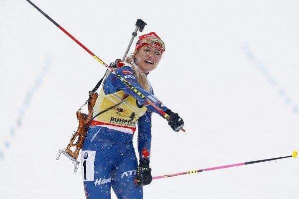 Gabriela Soukalová má v tejto sezóne výbornú formu.