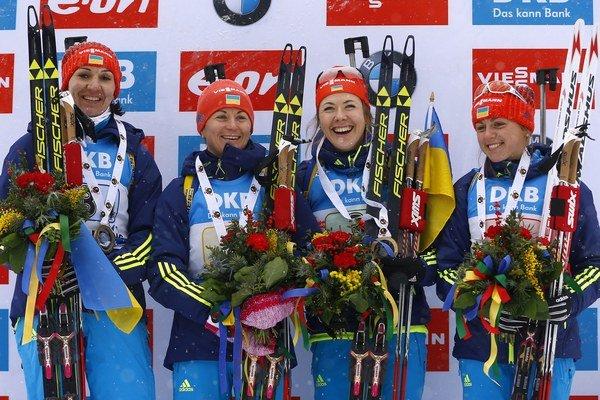 Ukrajinky zvládli najlepšie finiš pretekov štafiet na 4x6 km.