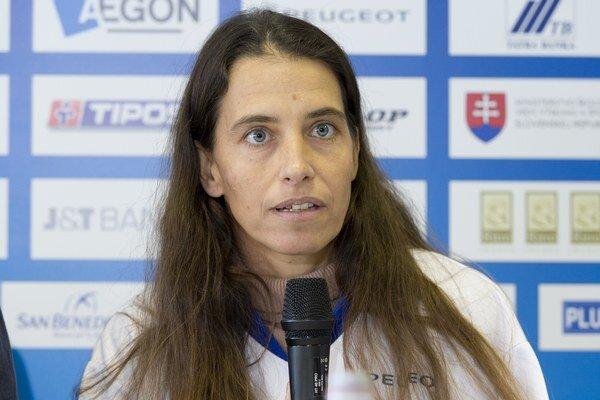 Slovenská tenistka Janette Husárová.