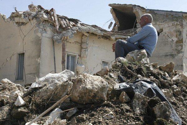 Zemetrasenie s magnitúdom 6,3 zničilo v roku 2009 taliansku L'Aquilu.