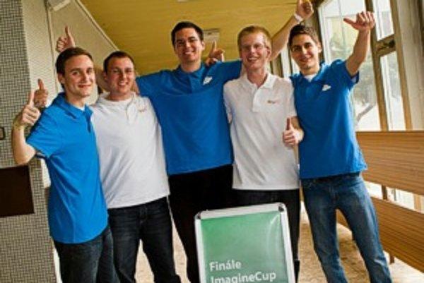 Víťazný tím slovenskej časti Imagine Cup