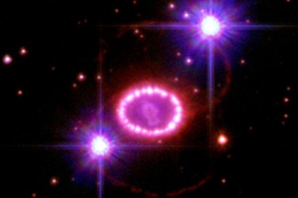 Supernova SN 1987A.