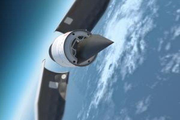Falcon vzlietne vďaka rakete. Potom sa od nej oddelí a postupne sa dostane do vodorovnej polohy. Let zakončí v mori.