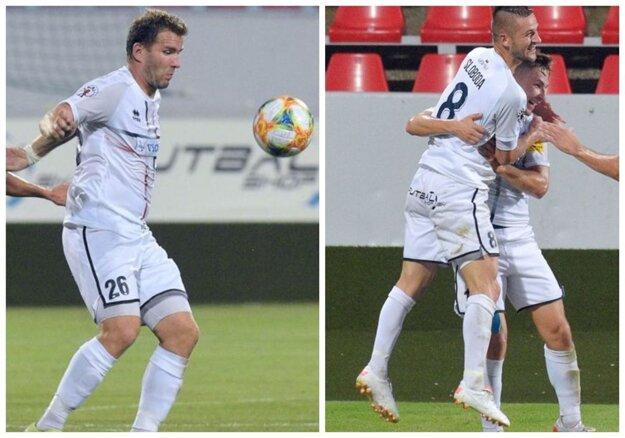 Tri hviezdy zápasu, skvelý stred zálohy FC ViOn. Tomáš Ďubek a Anton Sloboda sa trafili proti bývalému klubu a rozbehli aj iné gólové akcie, množstvom vyhratých súbojov žiaril aj Denis Duga (úplne vpravo).