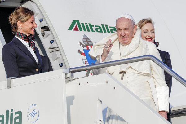 Pápež František pred odletom na turné do Afriky