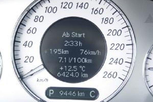Údajom o spotrebe na palubnom počítači môžeme veriť. Najčastejšia odchýlka je 0,2 litra na sto kilometrov.