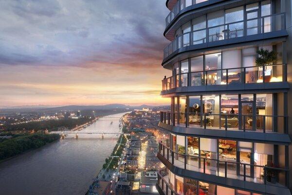 Vizualizácia projektu Eurovea Tower.