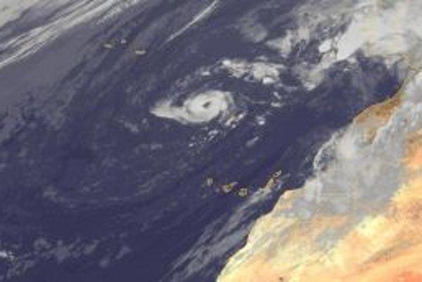 Hurikán Vince neďaleko Madeiry v októbri 2005.FOTO A ILUSTRÁCIE – EUMETSAT 2010