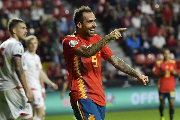 Paco Alcacer strelil za Španielsko dva góly.