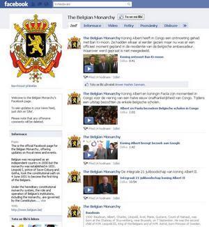 Facebook stránka belgickej monarchie