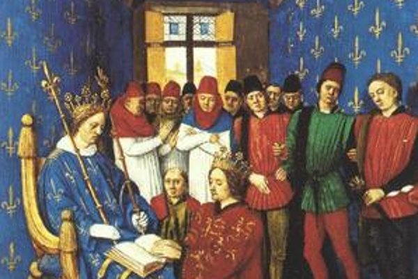 Eduard I. skladá Filipovi III. Smelému lénnu prísahu.