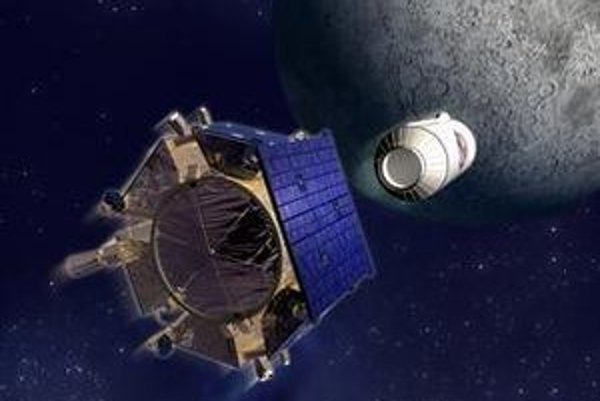 """LCROSS zahajuje """"misiu smrti"""": do Mesiaca najskôr narazí posledný stupeň rakety, po ňom samotná sonda."""