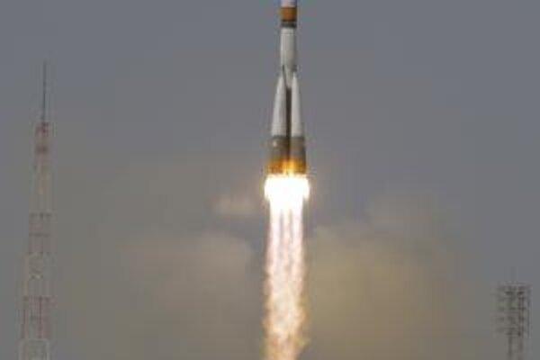 Sojuz pri štarte.