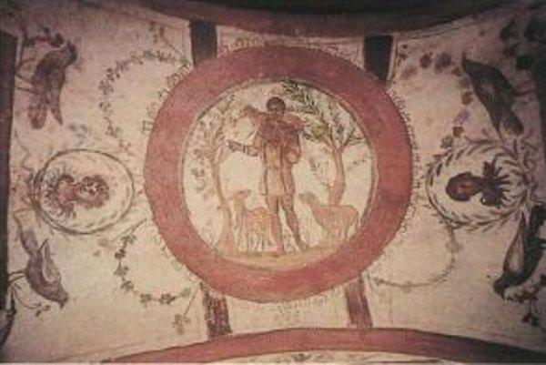 Vzácna freska Dobrý pastier z katakomb sv. Petra patrí k najkrajším v Ríme.