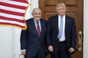 Donald Trump (vpravo) a jeho Rudy Giuliani.