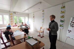 A. Mižigárová učí nulťáčikov s radosťou.