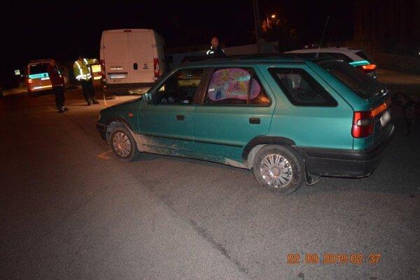Auto nechal na mieste.