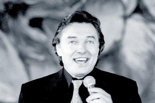 Karel Gott na párty rádia VOX v januári 1993.