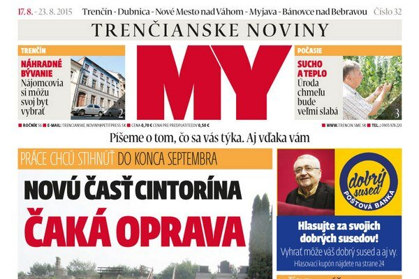 Vychádza nové číslo MY Trenčianskych novín.