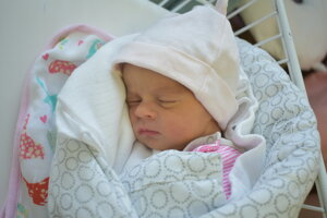 Ella Figurová (2870 g, 47 cm) sa narodila 30. septembra Alžbete a Zdenkovi z Nového Mesta nad Váhom.