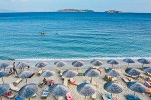 Pláž v gréckom Skiathose.