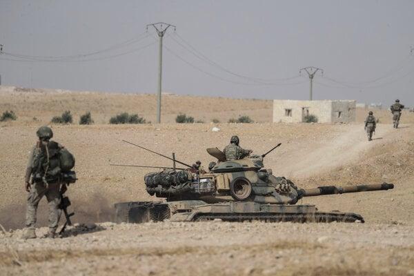 Turecká ofenzíva na severe Sýrie.