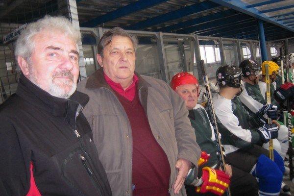Zľava: tréner Milan Mišura, organizátor Rudolf Juris a Viliam Ružička.