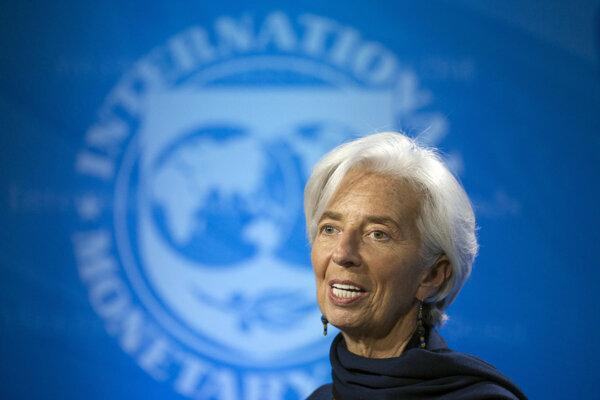 Šéfka Medzinárodného menového fondu Christine Lagardová.