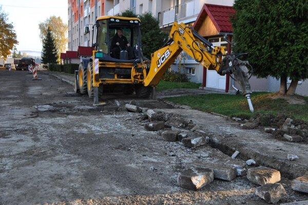 Oprava Dulianskej ulice.