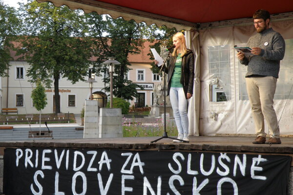 Prievidzské zhromaždenie Za slušné Slovensko 20.9.2019.