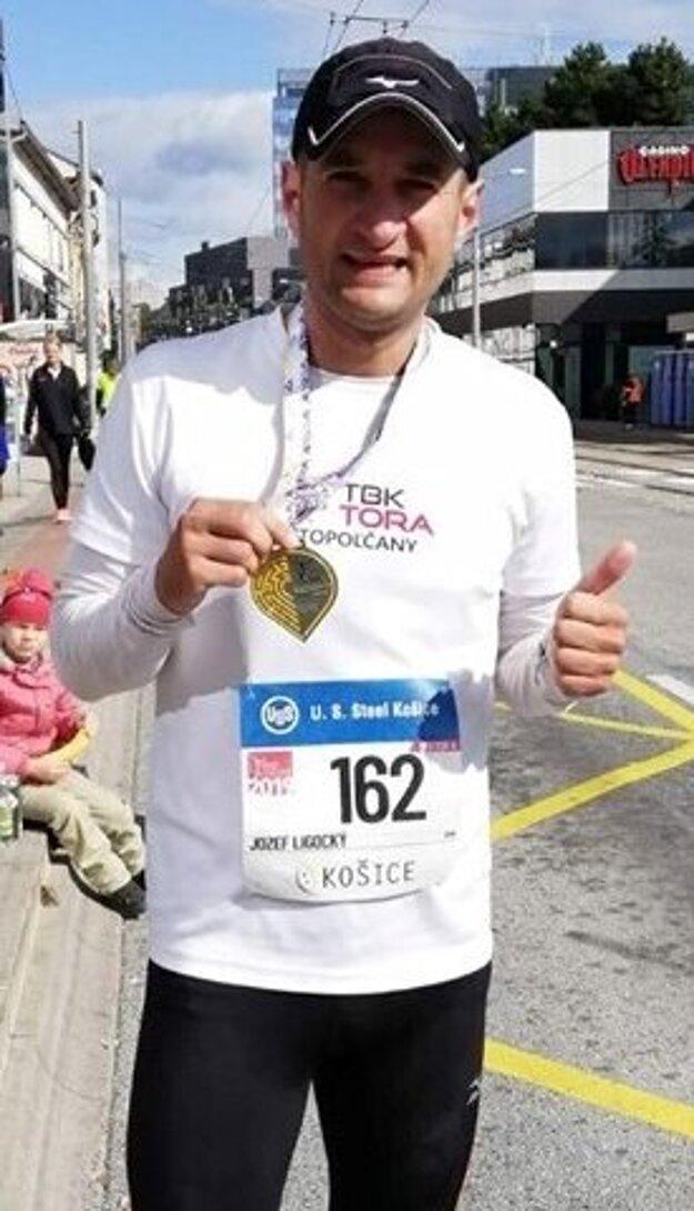 Jozef Ligocký na maratóne v Košiciach.