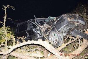 Vodič a štyri spolujazdkyne utrpeli ľahké zranenia, jedno dievča sa zranilo ťažko.