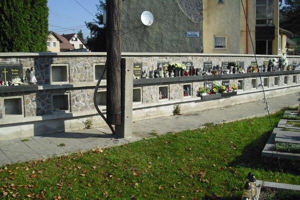 V Krásne nad Kysucou zriadili aj kolumbárium.
