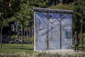 Zvyšky Berlínskeho múru.