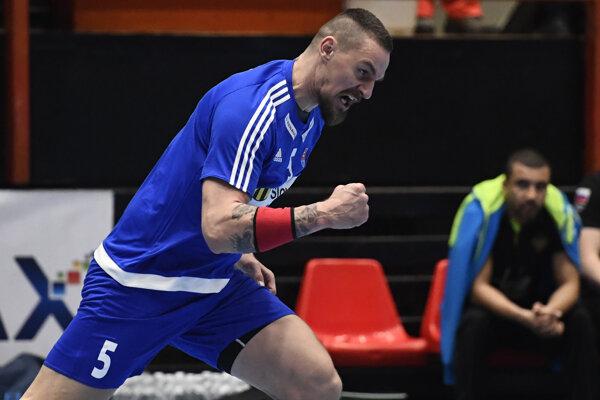 Michal Kopča reaguje v zápase kvalifikácie MS 2019 mužov 1. skupina Slovensko - Rusko, 11. januára 2018 v Považskej Bystrici.