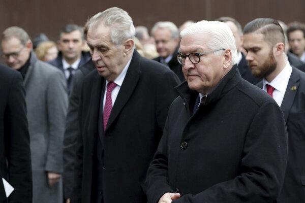 Český prezident Miloš Zeman a nemecký prezident Frank Walter Steinmeier.