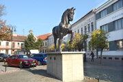 Kôň Casso je už rok osadený na rohu Orlej a Zvonárskej. Darcovia sa k nemu nehlásia.