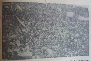 Fotografia z novín z generálneho štrajku z 27. novembra