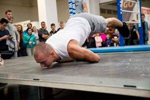 Dominik Klimek v súťaži Street Workout Games 2019.
