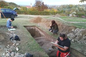 Archeologický výskum v Kubáňove.