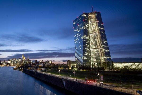 Sídlo Európskej centrálnej banky vo Frankfurte nad Mohanom.
