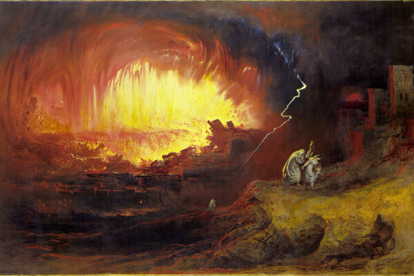 Zničenie Sodomy a Gomory od Johna Martina z roku 1852.