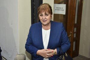 Podpredsedníčka Najvyššieho súdu SR Jarmila Urbancová po skončení rokovania Súdnej rady.