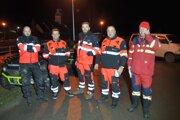 Skupina, ktorá nezvestnú ženu našla. Okrem nich pomáhalo ďalších približne päťdesiat ľudí.