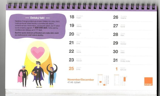 V kalendári sa stratil 24. november, pribudol ale 31. november.