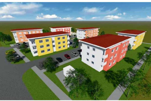 Vizualizácia nájomných bytov v Galante.
