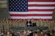 Americký prezident Donald Trump na návšteve Afganistanu.