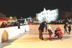 Zimná nálada v centre Levíc.