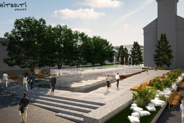 Architektonická štúdia revitalizácie Námestia sv. Egídia.